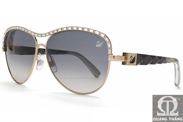 Swarovski Carrie Gold Sunglasses