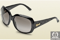 Gucci GG 3622S Rectangle Black Brown Sunglasses